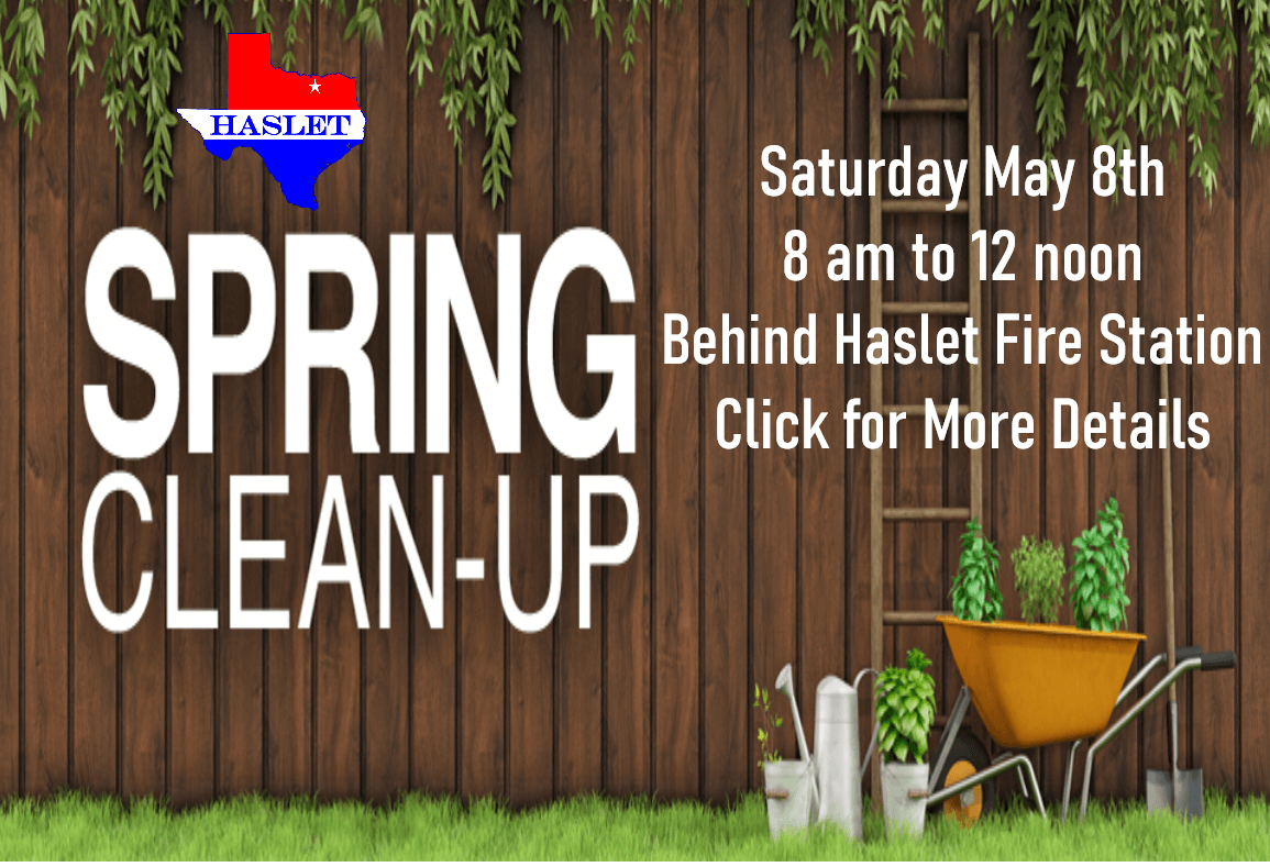 2021 spring clean up graphic