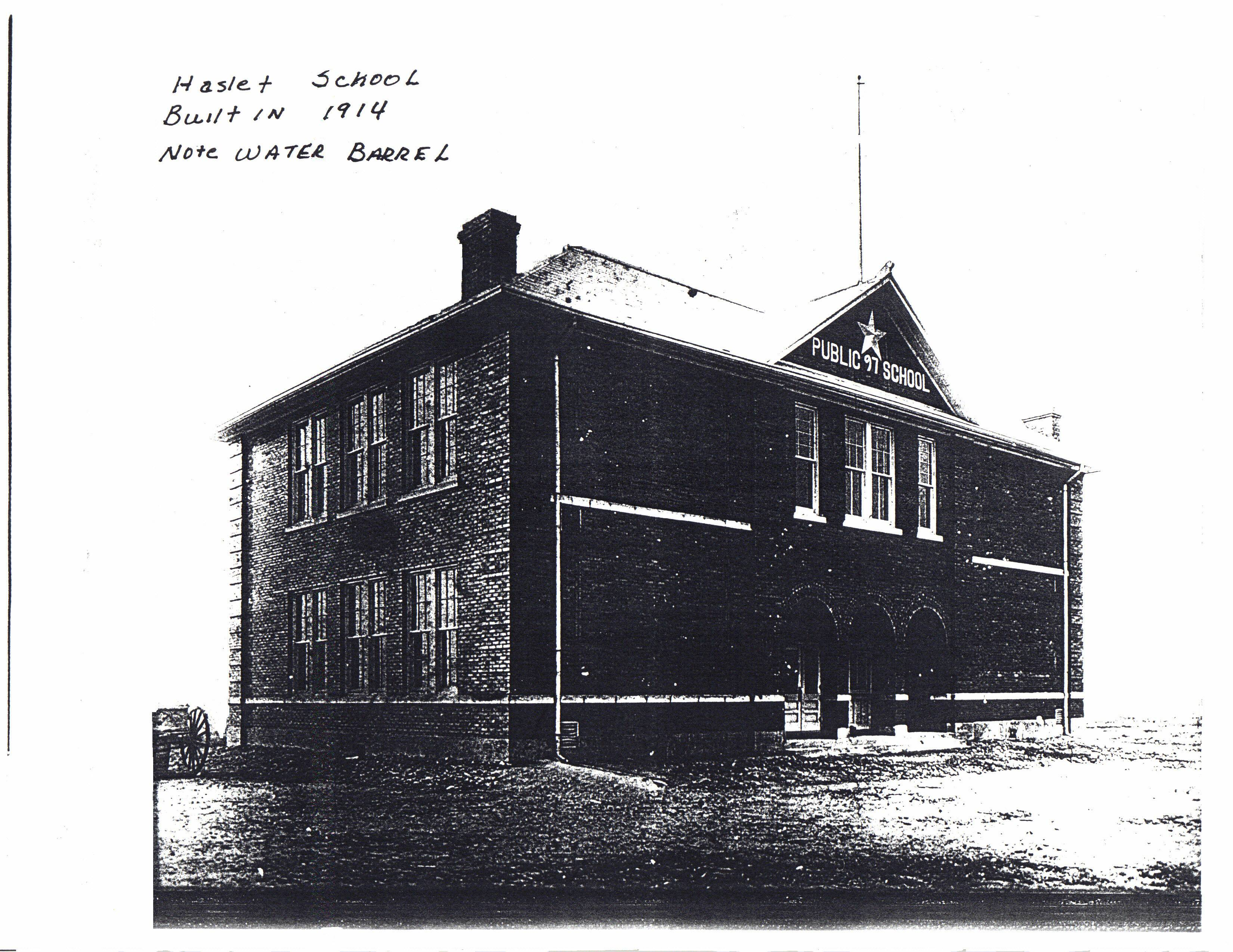 Haslet School   Built in 1914