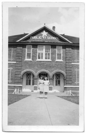 Orig Haslet School Built 1914 picture from 1930s